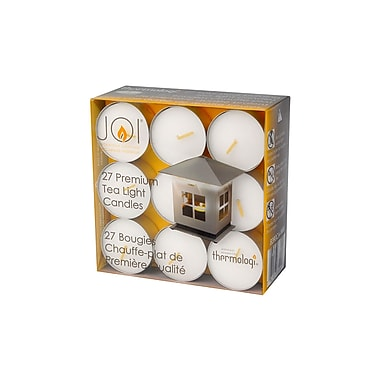 JOI - Bougies chauffe-plats de qualité 8390CAWBX, 27/paquet