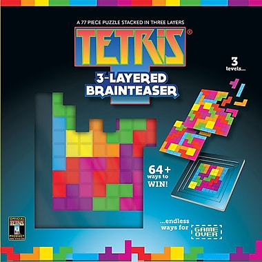 Masterpieces Puzzle Company Tetris, 3-Layered Brainteaser