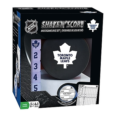 Masterpieces Puzzle Company NHL Shake N' Score Multigame Dice Set, Toronto Maple Leafs