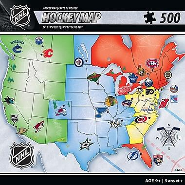 Masterpieces Puzzle Company – Casse-tête de Carte de hockey LNH, 24 po x 18 po