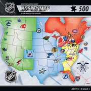 "Masterpieces Puzzle Company NHL Hockey Map Puzzle, 24"" X 18"""