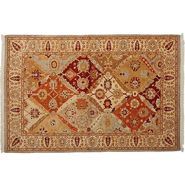 Darya Rugs Ottoman Hand-Knotted Beige Area Rug