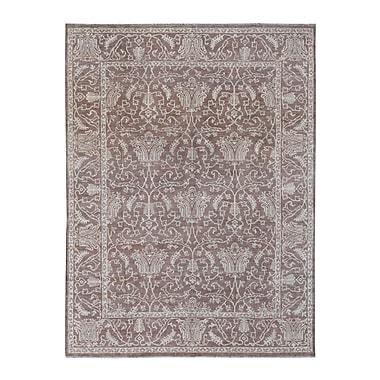 Wildon Home Hand-Knotted Brown/Gray Area Rug