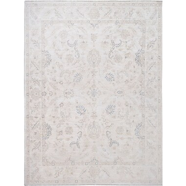 Wildon Home Hand-Knotted Ivory Area Rug