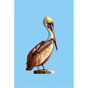Betsy Drake Interiors Pelican Vertical Flag; 40'' H x 28'' W