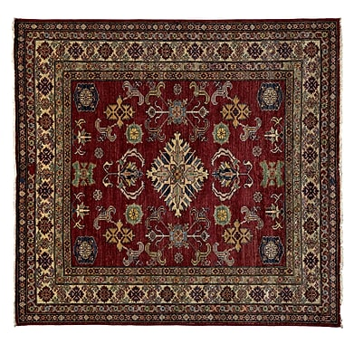 Darya Rugs Kazak Hand-Knotted Red Area Rug