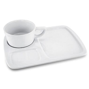 Kovot Ceramic Soup and Sandwich Divided Serving Dish Set