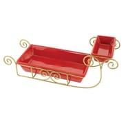 Kovot Ceramic Santa Sleigh Snack Serving Dish Set