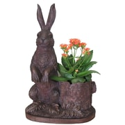ExpoDecorLLC Rabbit Novelty Resin Statue Planter