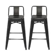Ace Casual Furniture 31'' Bar Stool (Set of 2); Black