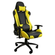 H&D Restaurant Supply, Inc. Hi Back Style Racing Gaming Chair; Yellow