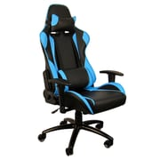 H&D Restaurant Supply, Inc. Hi Back Style Racing Gaming Chair; Sky blue