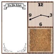 PTM Liza Clock Memo 23'' Wall Clock