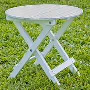 HRH Designs Round Side Table; White