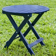 HRH Designs Round Side Table; Navy Blue