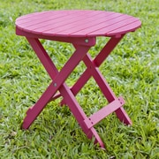 HRH Designs Round Side Table; Pink