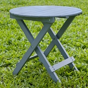 HRH Designs Round Side Table; Gray