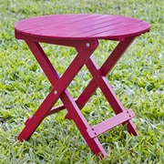 HRH Designs Round Side Table; Red