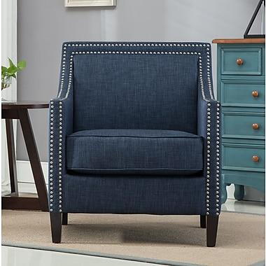 Alcott Hill Turberville Club Chair; Navy Blue