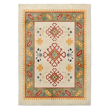 Bungalow Rose Yvonne Ivory Area Rug; 2' x 3'