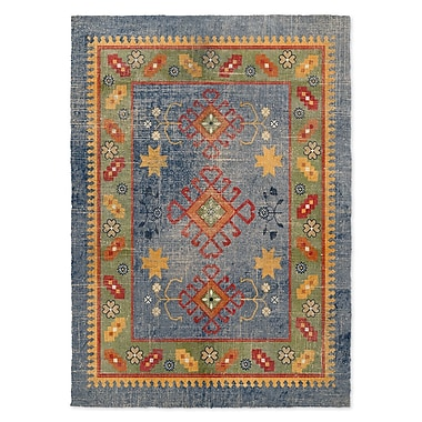 Bungalow Rose Yvonne Blue Area Rug; 8' x 10'
