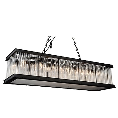 CrystalWorld Mira 14-Light Kitchen Island Pendant