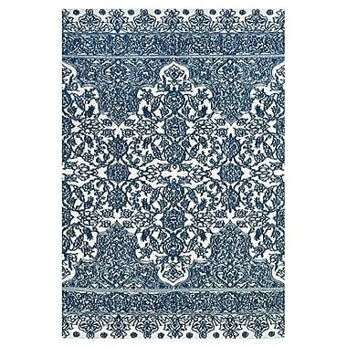 Charlton Home Clowers Light Blue/Ivory Area Rug; 5' x 8'