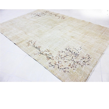 Wildon Home Vintage Hand-Knotted Ivory Area Rug