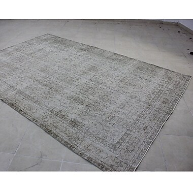Wildon Home Vintage Hand-Knotted Gray Area Rug
