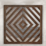Majestic Mirror Trendy Square Wood Framed Wall Mirror
