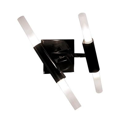 Brayden Studio Cybill 4-Light LED Armed Sconce; Dark Bronze