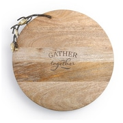 DEMDACO Poetic Threads Gather Together Wooden Lazy Susan
