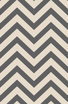 Diagona Designs Anne Chevron Ivory/Gray Area Rug