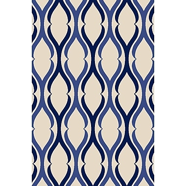 Diagona Designs Anne Moroccan Trellis Ivory/Blue Area Rug