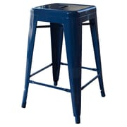 AmeriHome Loft Metal 24'' Bar Stool; Blue