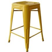 AmeriHome Loft Metal 24'' Bar Stool; Gold