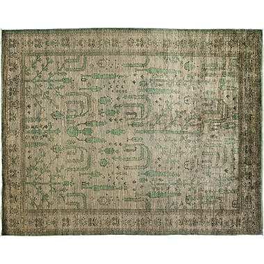 Darya Rugs Oushak Hand-Knotted Gray Area Rug