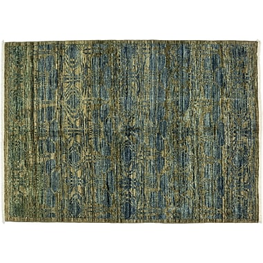Darya Rugs Eclectic Hand-Knotted Blue Area Rug