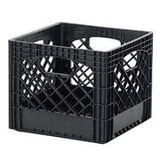 Buddeez Classic Milk Plastic Crate (Set of 2); Black