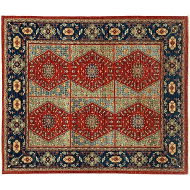 Darya Rugs Tribal Hand-Knotted Red Area Rug