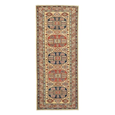 Wildon Home Kazak Hand-Knotted Red/Beige Area Rug