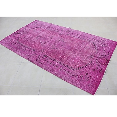 Wildon Home Vintage Hand-Knotted Pink Area Rug