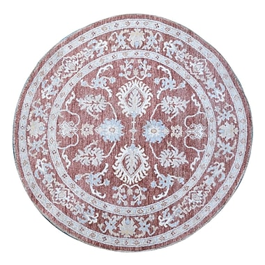 Wildon Home Hand-Knotted Red Area Rug