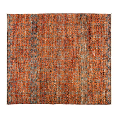 Darya Rugs Eclectic Hand-Knotted Orange Area Rug