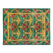 Darya Rugs Eclectic Hand-Knotted Green Area Rug