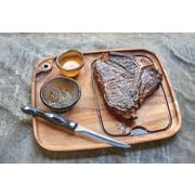 Fox Run Craftsmen Gourmet Wood Steak Barbecue Plate