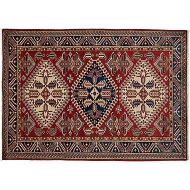 Darya Rugs Shirvan Hand-Knotted Red Area Rug