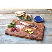 Fox Run Craftsmen Gourmet Wood End Grain Prep Station Cutting Board
