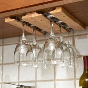 Fox Run Craftsmen Wood Hanging Wine Glass Rack (Set of 4)