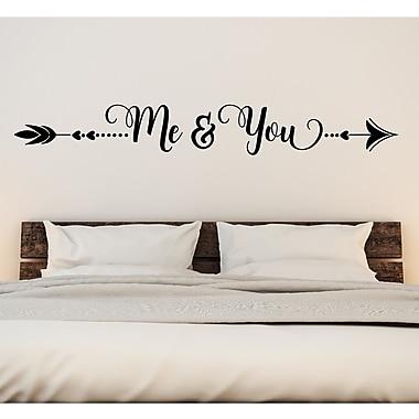 Enchantingly Elegant Me & You Vinyl Wall Decal; 8'' H x 30'' W